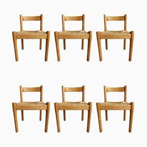Chaises de Salon Carimate Mid-Century par Vico Magistretti pour Cassina, Set de 6