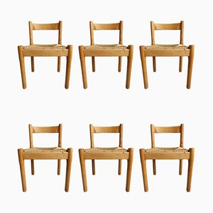 Mid-Century Carimate Dining Chairs by Vico Magistretti for Cassina, Set of 6