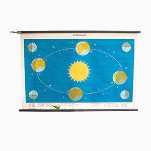 Póster sueco de astronomía, años 60