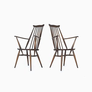 Vintage Model 369A Windsor Chairs from Ercol, 1960s, Set of 2