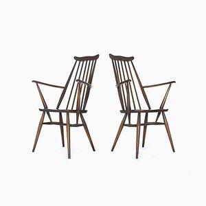 Vintage Modell 369A Windsor Stühle von Ercol, 1960er, 2er Set