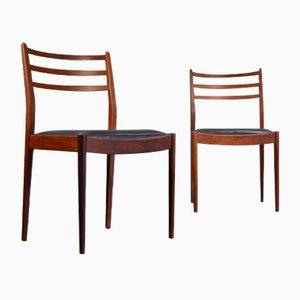 Sedie da pranzo in teak e similpelle di G-Plan, anni '60, set di 2