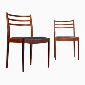 Teak and Leatherette Dining Chairs from G-Plan, 1960s, Set of 2