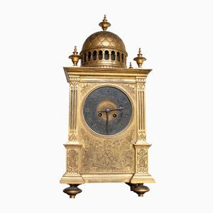 Horloge en Bronze et Plaqué Or, 19ème Siècle
