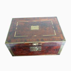 Antike englische Navy Reisebox aus Kastanienholz