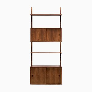 Large Vintage Rosewood Wall Unit by Rud Thygesen & Johnny Sorensen for Hansen & Guldborg, 1960s