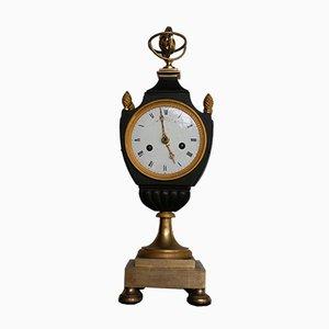 Horloge de Cheminée Antique en Bronze et Plaqué Or