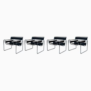 Wassily Armchairs by Marcel Breuer for Gavina, 1972, Set of 4
