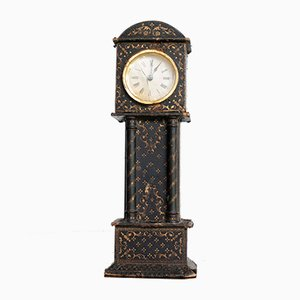Antique French Leather Clock