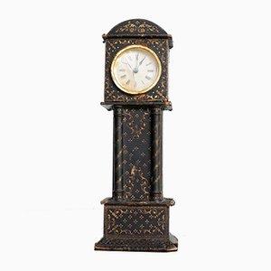 Reloj francés antiguo de cuero