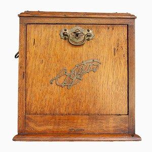 Vintage Zigarrenbox aus Eiche, 1930er