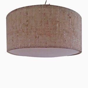 Vintage Deckenlampe mit Lampenschirm aus Wolle & Kunststoff von Luxus, 1970er