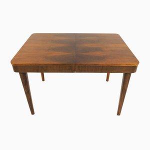 Ausziehbarer Vintage Tisch aus Nussholz von Jindřich Halabala für UP Závody, 1950er