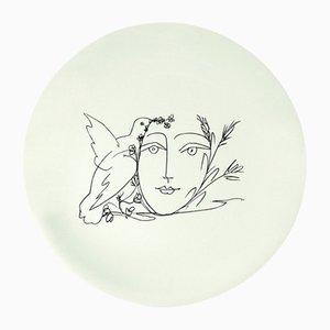 Vintage La Femme Aux Épis Ceramic Plate by Pablo Picasso for Salins France, 1960s