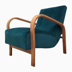 Vintage Model HF11 Lounge Chair by Jindřich Halabala, 1950s