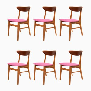 Danish Model The Smile Teak Dining Chairs from Farstrup Møbler, 1960s, Set of 6