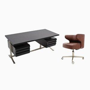Bureau et Chaise en Palissandre par Gianni Moscatelli pour Formanova, années 60, Set de 2