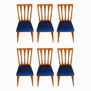 Vintage Dining Chairs by Gaston Poisson, 1950s, Set of 6