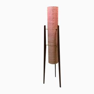 Lámpara de pie escandinava vintage, años 60