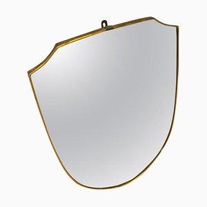 Italienischer Mid-Century Spiegel mit Rahmen aus Messing, 1950er