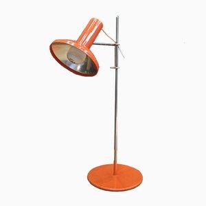 Orangefarbene verstellbare Tischlampe, 1960er
