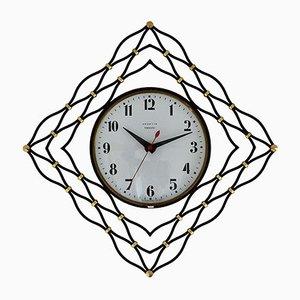 Reloj de pared vintage de Vedette, años 60