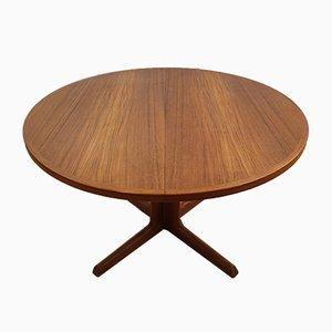 Mesa de comedor de teca de Niels Otto Møller para gudme mobelfabrik, años 60