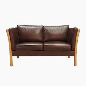 Vintage Leather Sofa from Stouby, 1970s