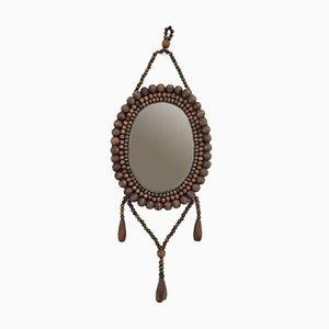 Vintage Wooden Mirror, 1970s