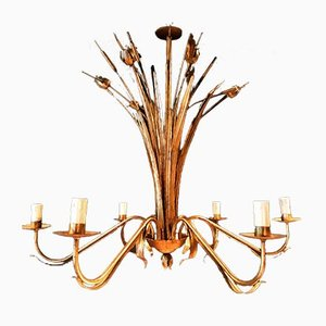 Large GIlt Chandelier, 1950s
