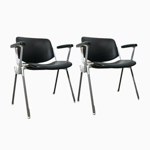 DSC 106 Desk Chair by Giancarlo Piretti for Anonima Castelli and Castles, 1960s, Set of 2