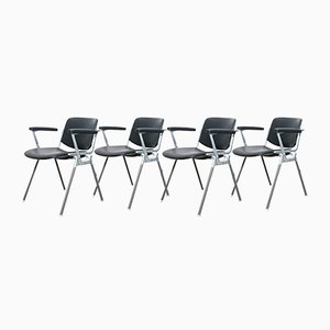 DSC 106 Desk Chair by Giancarlo Piretti for Anonima Castelli and Castles, 1960s, Set of 4