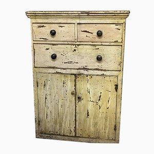 Mueble antiguo de pino pintado