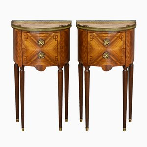 Louis XVI Style Nightstands, 1930s, Set of 2