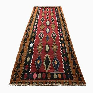Large Vintage Turkish Kilim Runner, 1950s