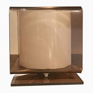Lámpara de mesa cúbica de plexiglás, años 70