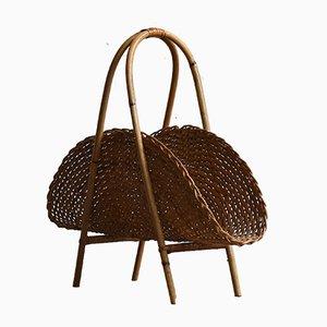 Revistero de ratán y bambú, años 60