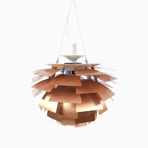 Copper Artichoke Ceiling Lamp by Poul Henningsen for Louis Poulsen, 1970s