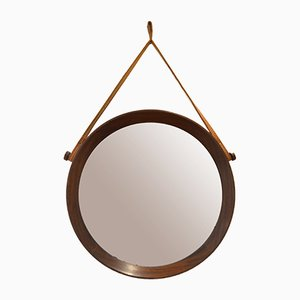 Espejo de teca de Uno & Osten Kristiansson para Luxus, años 60
