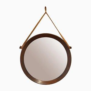 Miroir en Teck par Uno & Osten Kristiansson pour Luxus, années 60