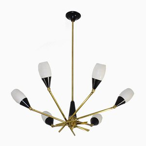 Mid-Century Italian Chandelier from Stilnovo