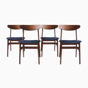 Sedie da pranzo di Farstrup Møbler, Danimarca, anni '60, set di 4