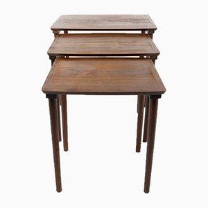 Tavolini ad incastro Mid-Century in teak, Danimarca