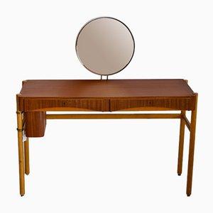Toeletta vintage con specchio di Bertil Fridhagen per Bodafors, anni '50