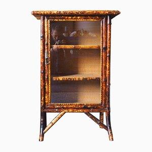 Mobiletto antico tardo vittoriano in bambù dipinto