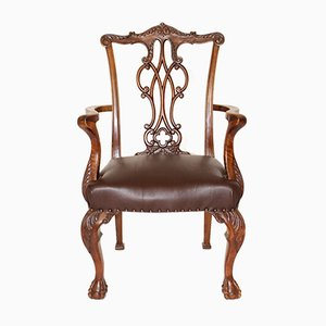 Walnut Chippendale Armchair, 1920s