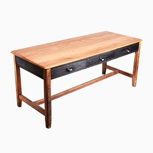 Rectangular English Beech Dining Table from CE, 1956