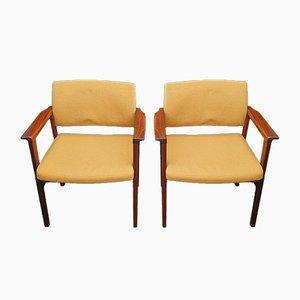Armlehnstühle mit Gestell aus Palisander von Svegards, 1960er, 2er Set