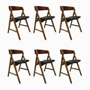 Modell 71 Esszimmerstühle aus Teak von Henning Kjærnulf für Boltings Stolefabrik, 1960er, 6er Set