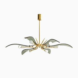 Lámpara de araña grande de Cristal Arte, años 50